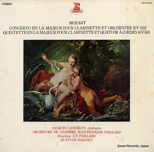 LANCELOT, JACQUES mozart; concerto en la majeur pour OS-2749-RE - front cover