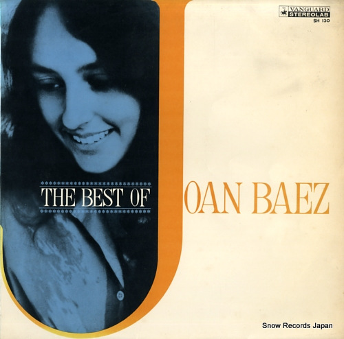 BAEZ, JOAN the best of joan baez SH130 - front cover