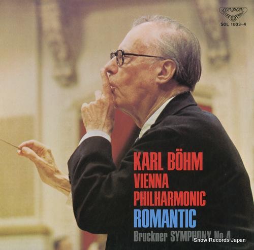 BOHM, KARL bruckner; symphony no.4 romantic SOL1003-4 - front cover