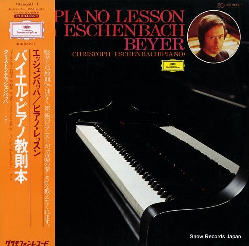 ESCHENBACH, CHRISTOPH a piano lesson eschenbach beyer MG8660/1 - front cover