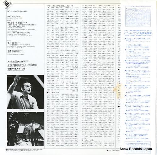 CONSTANT, MARIUS constant; chants de maldoror, winds, traits(cadavres exquis) REL-2509 - back cover