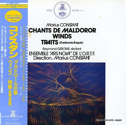 CONSTANT, MARIUS constant; chants de maldoror, winds, traits(cadavres exquis) REL-2509 - front cover