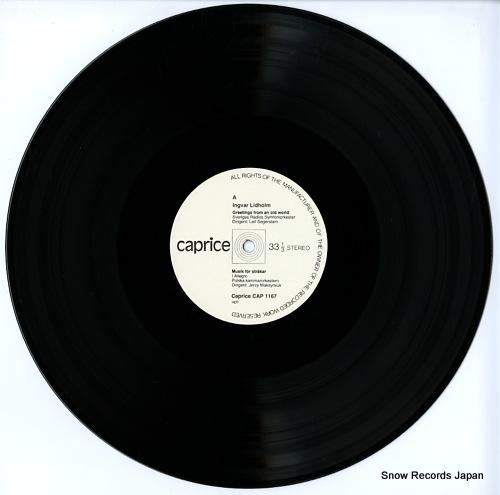 LIDHOLM, INGVAR ingvar lidholm; musik for strakar, greetings from an old world, kontakion CAP1167 - disc