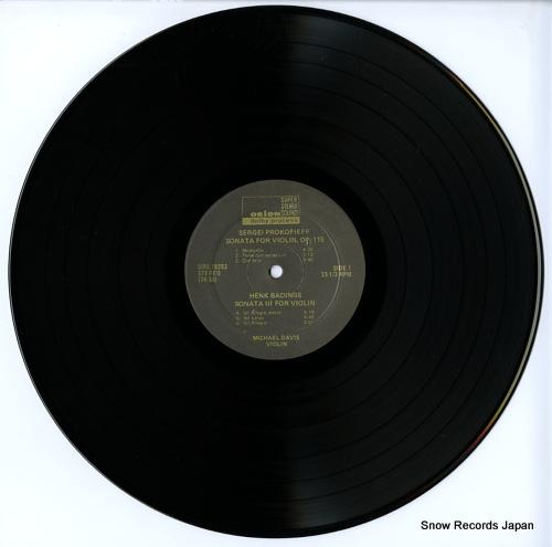 DAVIS, MICHAEL badings; solo sonata no.3(1951) ORS78293 - disc