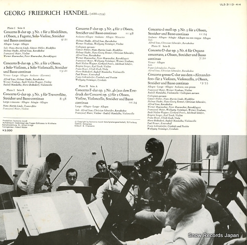 COLLEGIUM AUREUM handel; concerti grossi op.3 ULS-3113-4-H - back cover