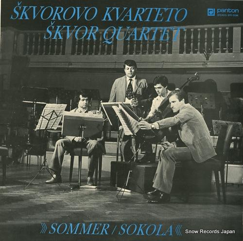SKVOR QUARTET / SKVOROVO KVARTETO vladimir sommer; string quartet in d minor 81110196 - front cover
