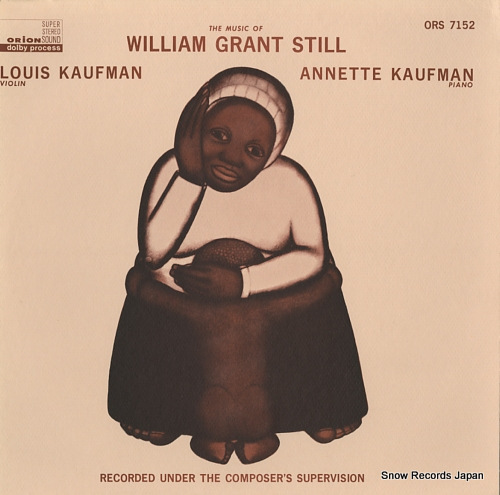 KAUFMAN, LOUIS&ANNETTE william grant still; suite for violin and piano ORS7152 - front cover