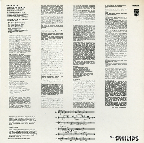 ANDERSEN, KARSTEN contemporary music from norway 6507039 - back cover