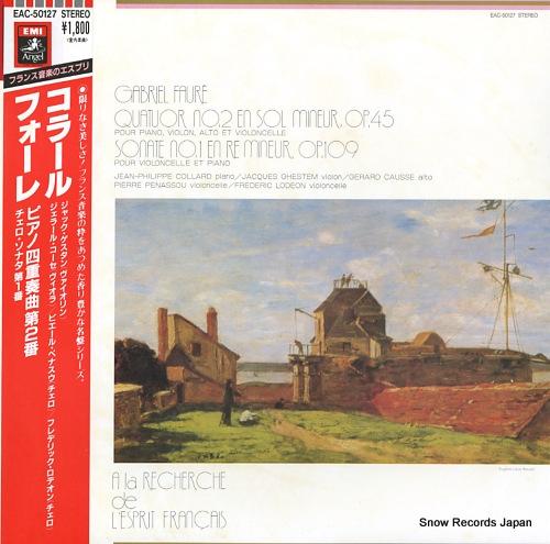 COLLARD, JEAN-PHILIPPE faure; quatuor no.2 pour piano EAC-50127 - front cover