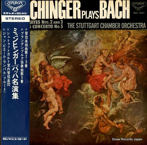 MUNCHINGER, KARL munchinger plays bach SLC1561 - front cover