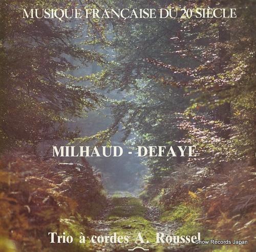 TRIO A CORDES A.ROUSSEL milhaud-defaye CY645 - front cover