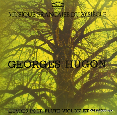 V/A georges hugon; oeuvres pour flute violon et piano CY701 - front cover