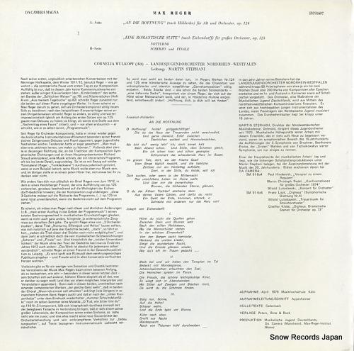 STEPHANI, MARTIN max reger; an die hoffnung op.124 SM91607 - back cover