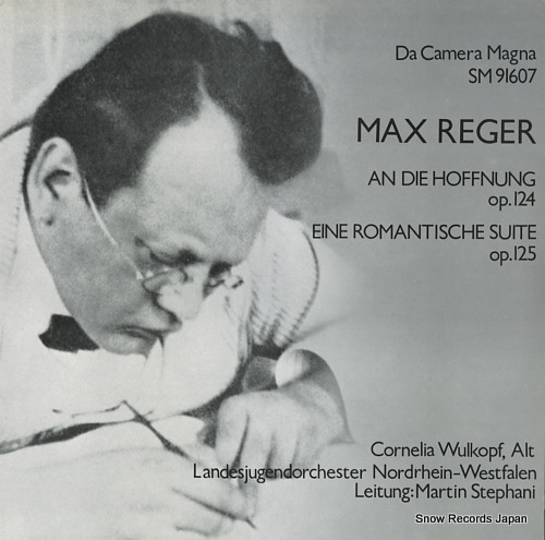 STEPHANI, MARTIN max reger; an die hoffnung op.124 SM91607 - front cover