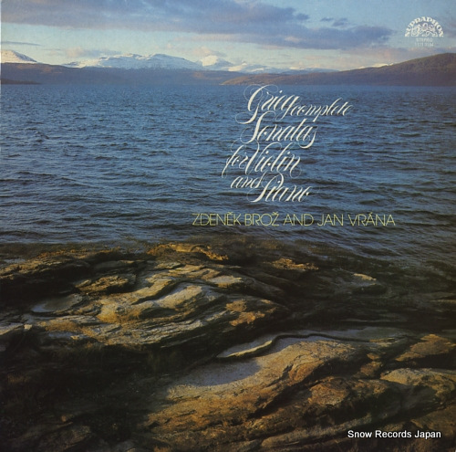 BROZ, ZDENEK, AND JAN VRANA grieg; sonatas for violin and piano 11113164 - front cover