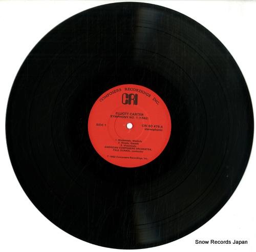 DUNKEL, PAUL elliott carter; the early music CRISD475 - disc