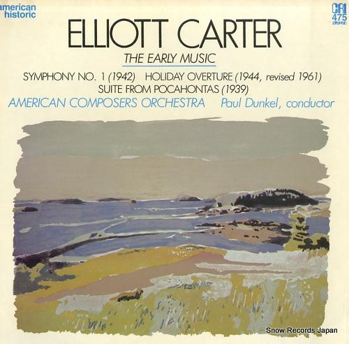DUNKEL, PAUL elliott carter; the early music CRISD475 - front cover