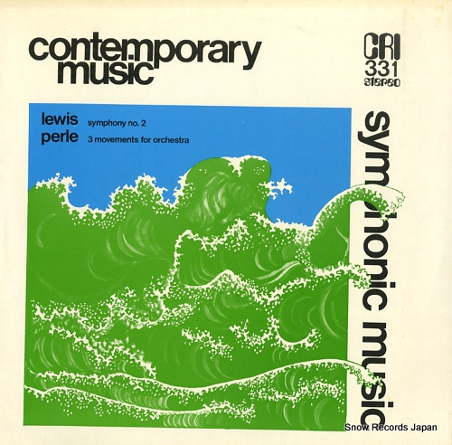 HALL LEWIS, ROBERT / DAVID EPSTEIN lewis; symphony no.2 / perle; 3 movements for orchestra CRISD331 - front cover