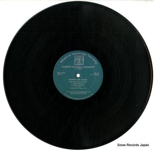 HERRMANN, BERNARD robert russell bennett; works for violin MHS3974 - disc
