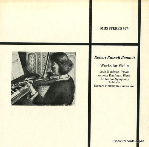 HERRMANN, BERNARD robert russell bennett; works for violin MHS3974 - front cover
