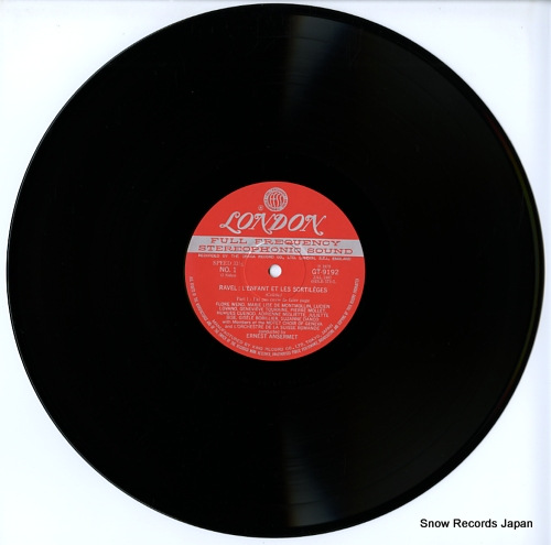 ANSERMET, ERNEST ravel; l'enfant et les sortileges GT9192 - disc