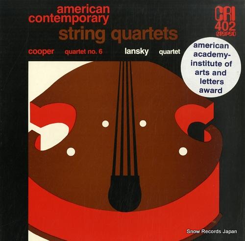 SHEPHERD QUARTET / PRO ARTE QUARTET cooper; quartet no.6 / lansky; quartet CRISD402 - front cover