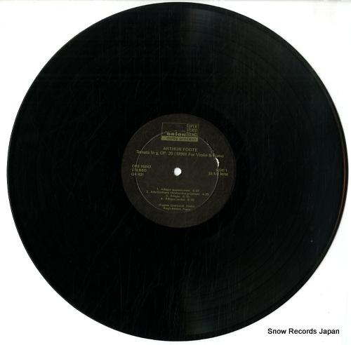 GRATOVICH, EUGENE, AND, REGIS BENOIT arthur foote; sonata in g minor ORS76243 - disc