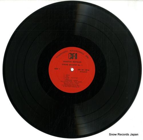 CONTEMPORARY QUARTET / AMERICAN QUARTET martin boykan; quartet no.1 CRISD338 - disc