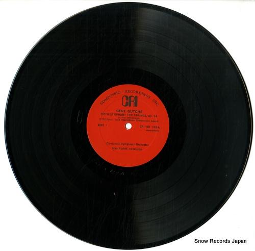 RUDOLF, MAX / GUY FRASER HARRISON gene gutche; fifth symphony for strings op.34 CRI189 - disc