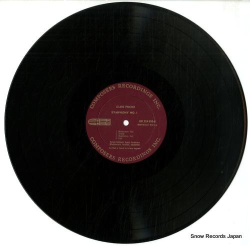 ORMICKI, WLODZIMIERTZ / FREDERIC BALAZS leland procter; symphony no.1 CRI224USD - disc