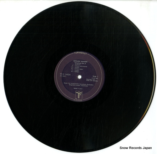 LANDAU, SIEGFRIED howard hanson; symphony no.6 TV-S34534 - disc