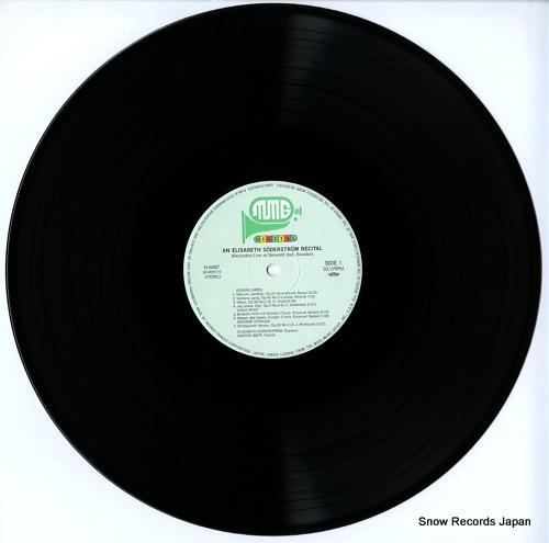 SODERSTROM, ELISABETH an elisabeth soderstrom recital H-6067 - disc