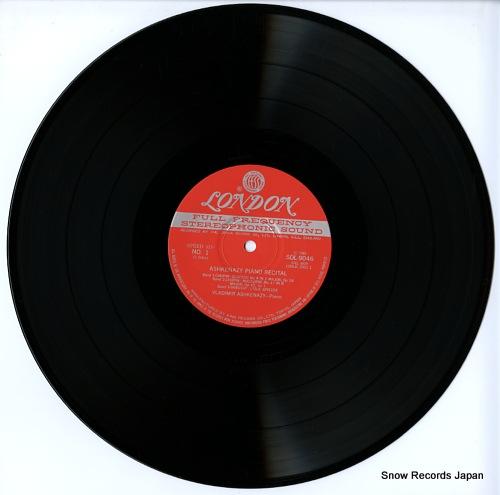 ASHKENAZY, VLADIMIR ashkenazy piano recital SOL9046 - disc