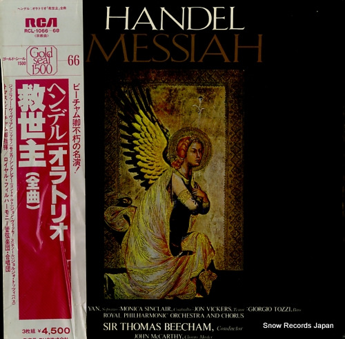 BEECHAM, THOMAS handel; messiah RCL-1066-68 - front cover