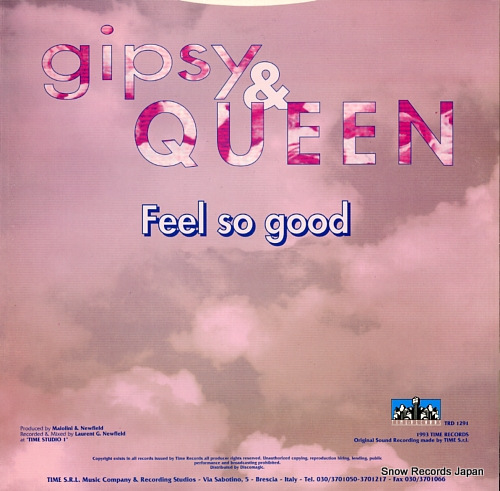GIPSY AND QUEEN feel so good TRD1291 - back cover