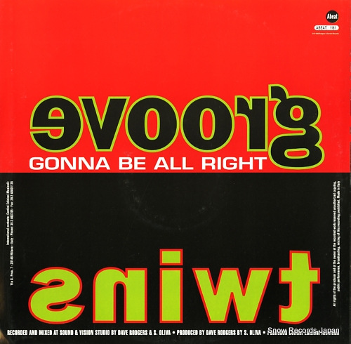 GROOVE TWINS gonna be all right ABEAT1181 - back cover