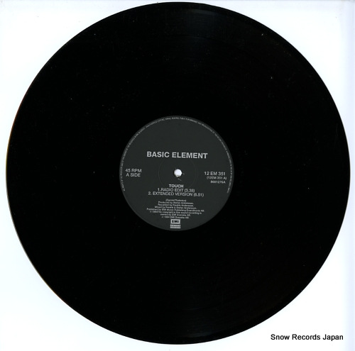 BASIC ELEMENT touch 12EM351 - disc