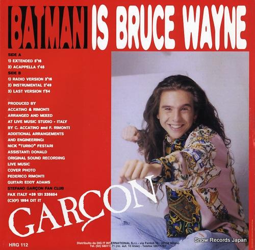 GARCON batman is bruce wayne HRG112 - back cover