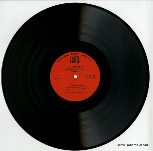SHEPHERD QUARTET cooper; string quartet no.5(umbrae) CRISD369 - disc