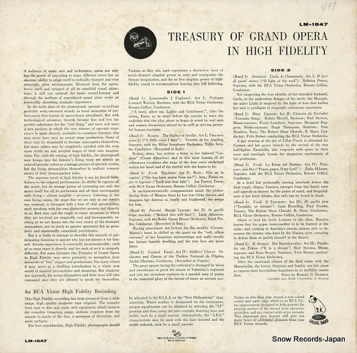 V/A a treasury of grand opera in high fidelity LM-1847 - back cover