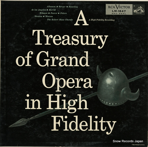 V/A a treasury of grand opera in high fidelity LM-1847 - front cover