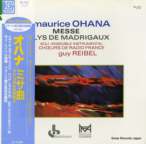 REIBEL, GUY ohana; messe REL-5523 - front cover