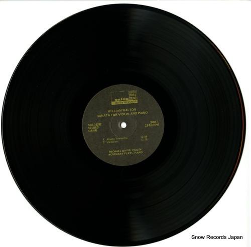 DAVIS, MICHAEL walton; sonata for violin and piano ORS78292 - disc