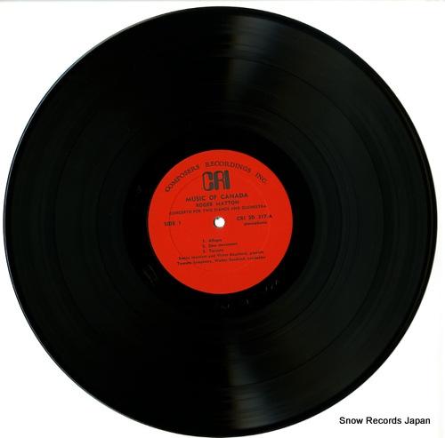 SUSSKIND, WALTER matton; music of canada CRISD317 - disc