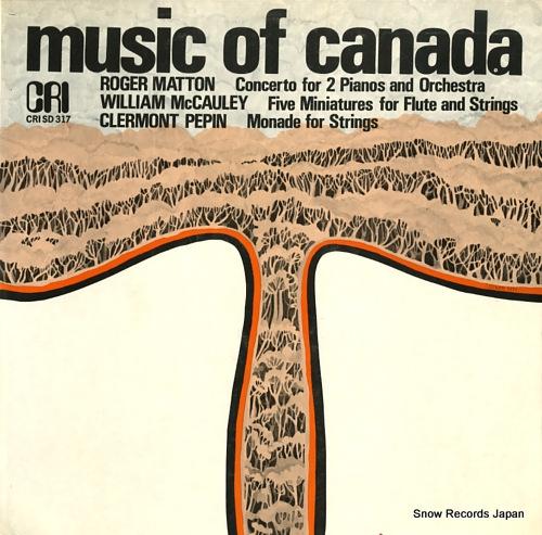 SUSSKIND, WALTER matton; music of canada CRISD317 - front cover