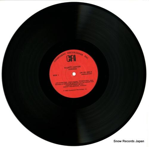 SOLLBERGER, HARVEY carter; syringa CRISD469 - disc