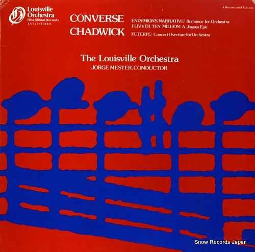 LOUISVILLE ORCHESTRA converse; endymions narrative romance for orchestra op.10 LS753 - front cover