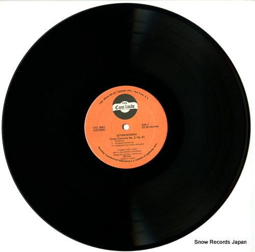 LACK, FREDELL szymanowski; violin concerto no.2 op.61 VCL9061 - disc