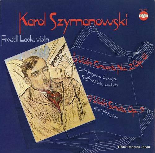 LACK, FREDELL szymanowski; violin concerto no.2 op.61 VCL9061 - front cover