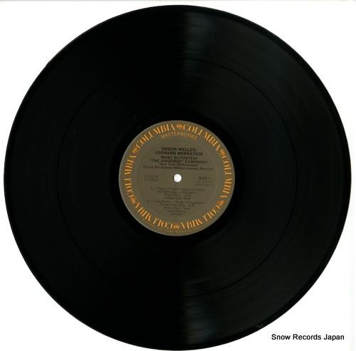 BERNSTEIN, LEONARD blitzstein; the airborne symphony M34136 - disc